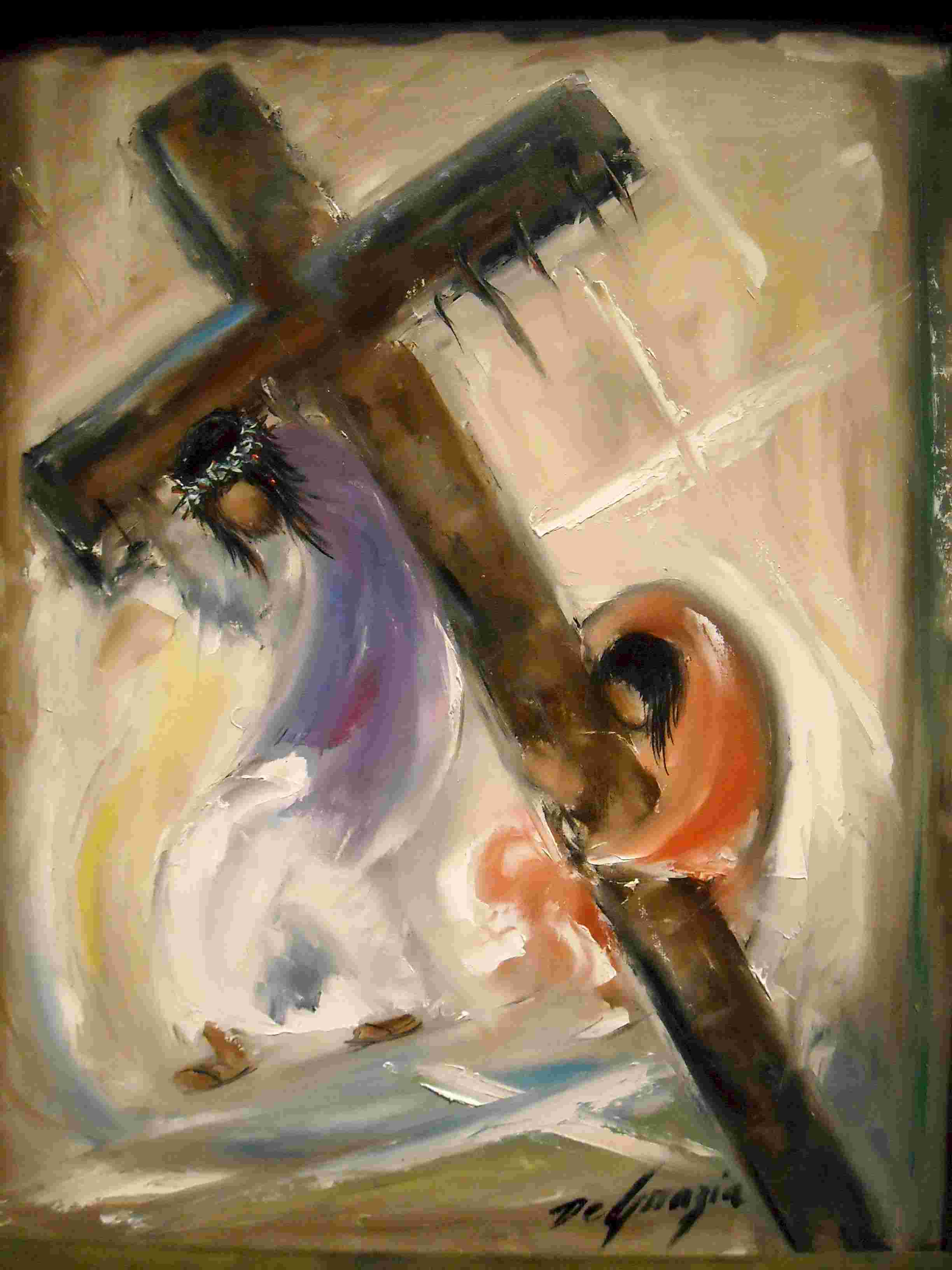 5 simon of cyreania helps jesus carry the cross susancushman com
