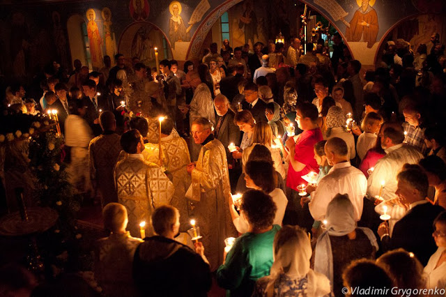 Holy Pascha 2011, St. Seraphim Orthodox Cathedral, Dallas