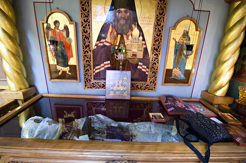 Items people place on a reliquary to be blessed
