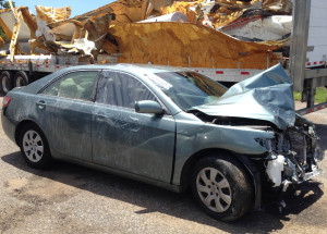 Camry wrecked 2