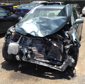 My Camry after the wreck