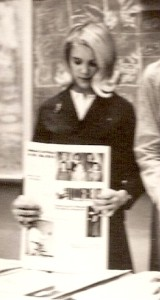 Highschool newspaper feature writer, 1967