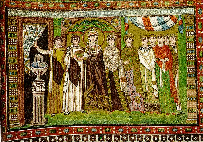 Empress Theodora and her attendants