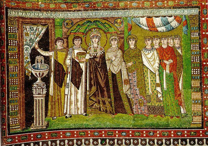 Empress Theodora and her attendants
