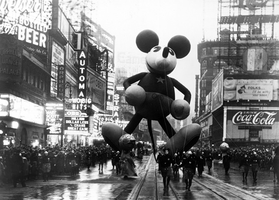 Macy's Thanksgiving Day Parade, 1934 (the first year Disney joined them)