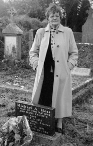 Philomena Lee at her son's grave