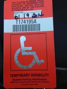 handicap tag
