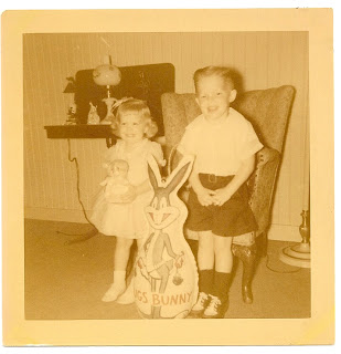 Easter 1953 with my brother, Mike