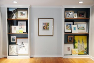 "An ""art scene"" in Hillary Butler's home"