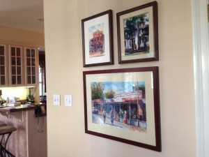 watercolors of places in Oxford, Mississippi, by my friend from high school, Kit Whitsett Fields