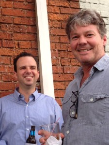YOK Shop Director Neal Walsh with Workshop Leader and Keynote Speaker Scott Morris on the balcony at City Grocery Bar
