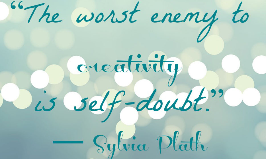 Self-doubt-quote-by-Sylvia-Plath