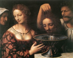 Salome receiving the head of St. John the Baptist by Bernadino Luini
