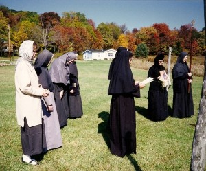 That's me, far left, with the nuns at Holy Transfiguration Monastery in Ellwood City, Pennsylvania, 1990s