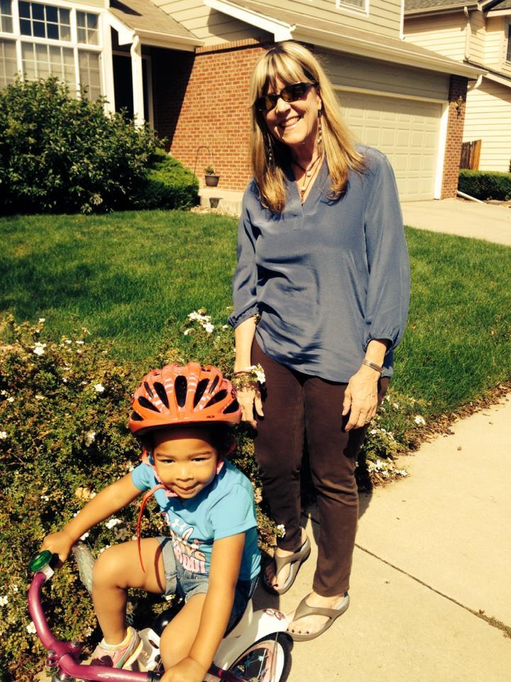 Gabby Susu biking