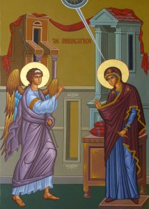 Icon of the Annunciation at Saint John Orthodox Church, Memphis