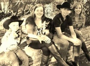My cousin Julie with her three precious children (November, 2013) in San Antonio, Texas