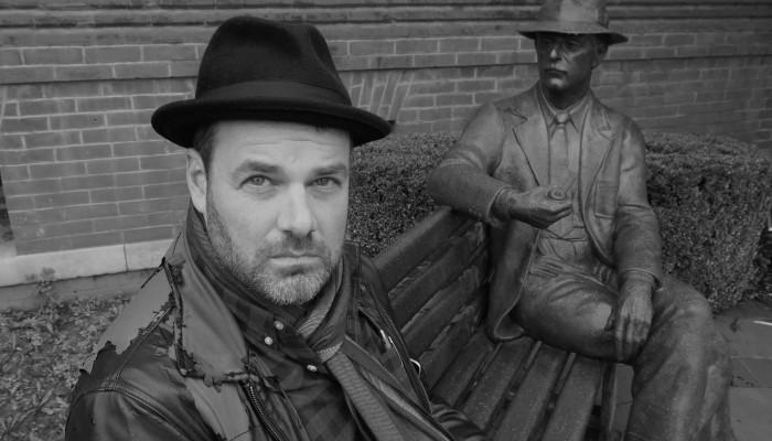 Grant Faulkner visits a familiar landmark on the square in Oxford, Mississippi, where the OTHER Mr. Faulkner holds court.