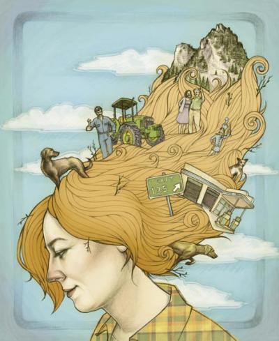 art which accompanied one of Shari's stories in Western North Carolina Magazine