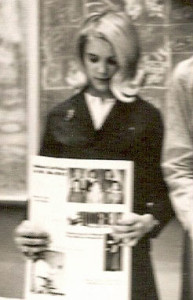 Susan Cushman (feature writer, high school newspaper staff,  1966, the year she was dumped)