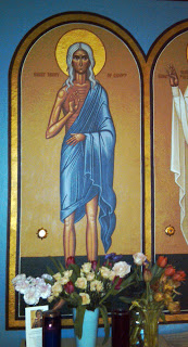 icon at St. John Orthodox Church in Memphis on Mary of Egypt Sunday