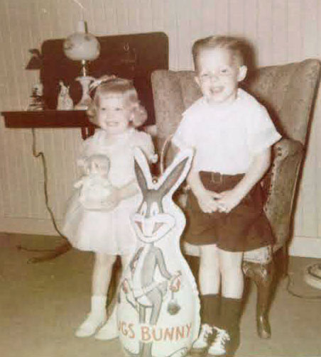 1953, Meridian, Mississippi (I was 2, my brother was 3)
