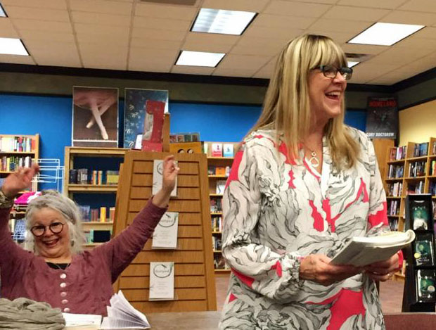 I wish I could remember what was so funny at this point in my reading at Laurelwood!