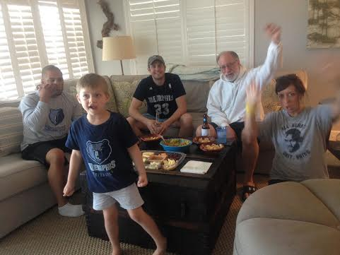 Our friends from Memphis, BIlly, Marjo, Joseph and William Labonte are also at the beach this week and joined us for a Grizzlies-watching party Sunday afternoon.