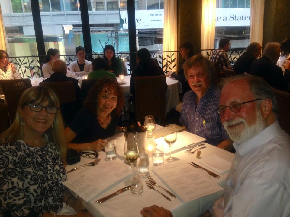 with Julie and Benjamin Stell and hubby at Fig & Olive Saturday night.