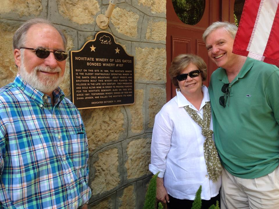 At Testarossa Winery with the parents of the bride, our friends Deb and Tim Mashburn (and my husband:-)