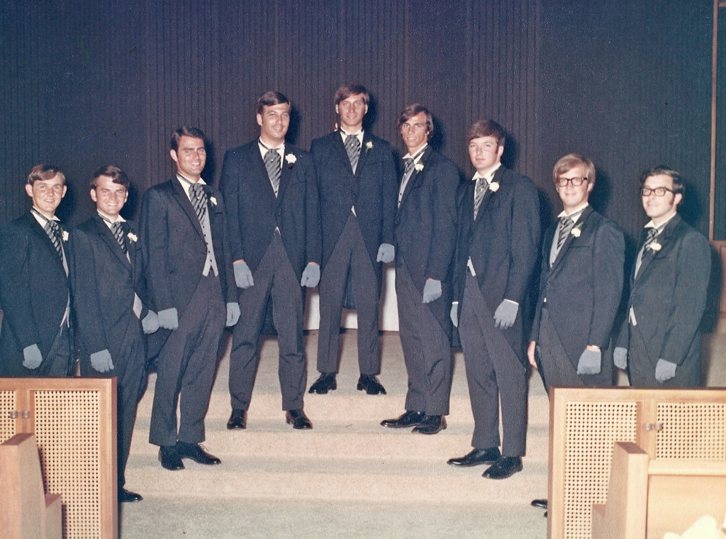 Bill's groomsmen were mostly friends from Ole Miss, plus his brother and his best friend from high school back in Atlanta.