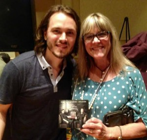 Meeting Jonathan Jackson at a concert in Franklin, Tennessee, on June 12 and getting a signed CD!