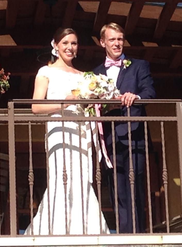 Kate (Mashburn) and James Kopecky immediately following the wedding ceremony at Regale Winery and Vineyards
