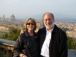 In Florence for our 40th anniversary in 2010.