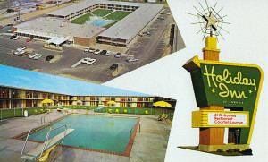 This postcard is from a Holiday Inn in St. Louis in the 1970s... looks like the one in South Jackson