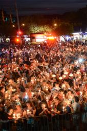 Candlelight vigil for Elvis at Graceland in Memphis