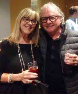 Susan with Dennis Byron, Bee Gees drummer