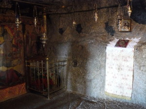 The cave on Patmos where Saint John wrote the book of Revelation