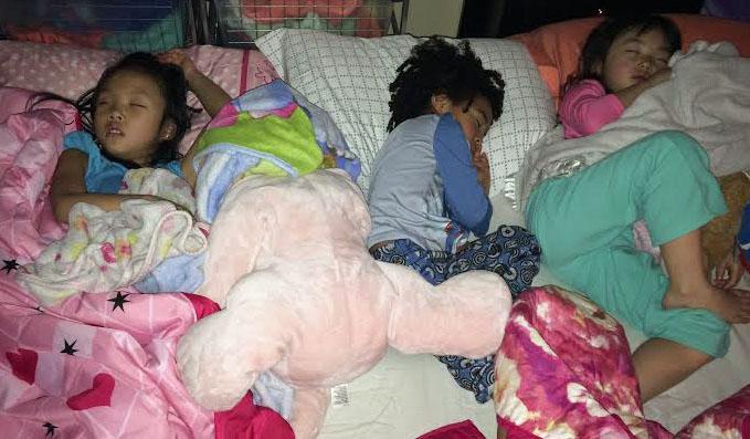 Grands sleeping