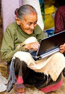 old woman w laptop