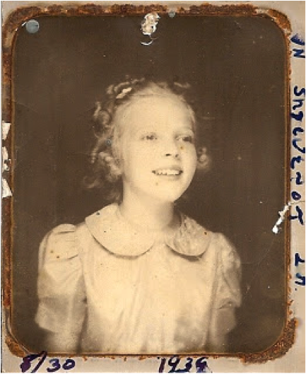 My mother circle 1936 or 1939... hard to read the writing on this beautiful tintype