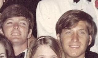 Troy Mashburn and Bill Cushman at a Sigma Chi formal at Ole Miss in 1969