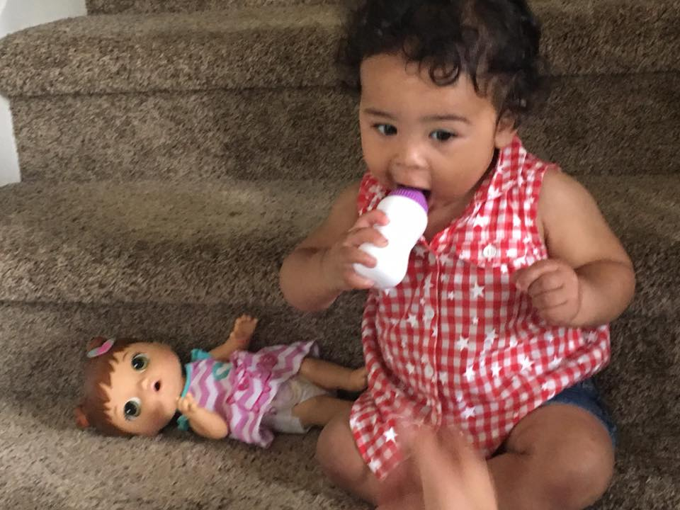 izzy drinking doll bottle