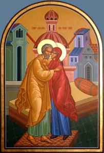 Icon of Saints Joachim and Anna at St. John Orthodox Church, Memphis