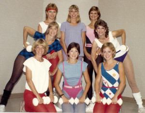 Aerobic Dance Instructors at Phidippides Sports, Jackson, Mississippi, 1985