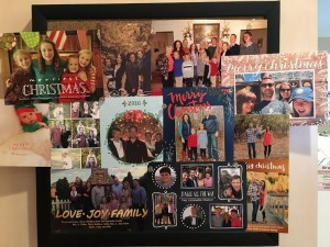 kitchen bulletin board (with some of our 2016 photo cards) will stay up until next year's cards arrive!