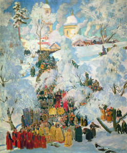 Great Blessing of Waters by Boris Kustodiev