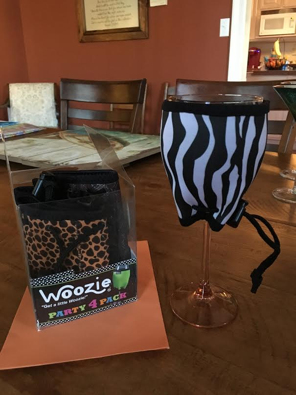 Woozies to keep wine cold, from sweet Madeleine and Damon.