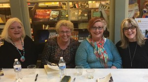 NancyKsy Wessman, Emma Connolly, Susan Marquez, Susan Cushman, reading and signing at Garden District Books in New Orleans