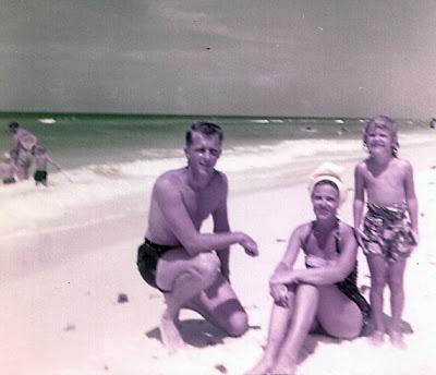 Dad, Mom, me 1956